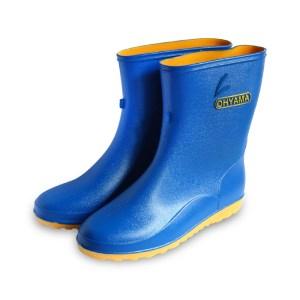รองเท้าบู๊ทข้อสั้นพื้นเรียบ B.008 สีน้ำเงิน