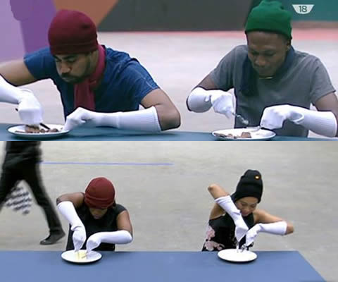 Big Brother Naija 2017 Day 52 Task: Cutting And Eating Frozen Chocolate