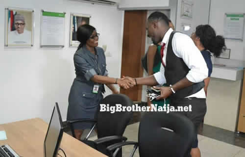 Evicted Housemates Ahneeka And Angel Hang Out With Heritage Bank Staff