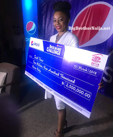 Pepsi Roc Da Mat Challenge Winner Ifu Ennada Receives 5 Million Naira