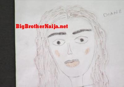Diane Portrait Painting Big Brother Naija 2019