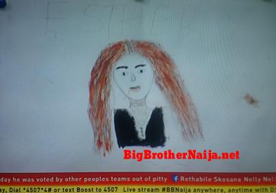 Esther Portrait Painting Big Brother Naija 2019