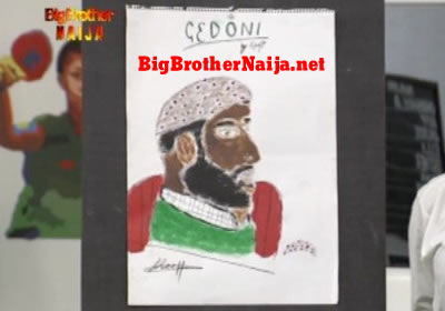 Gedoni Portrait Painting Big Brother Naija 2019