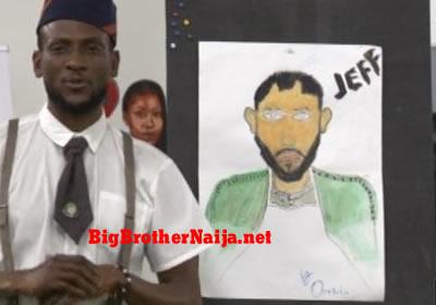Jeff Portrait Painting Big Brother Naija 2019