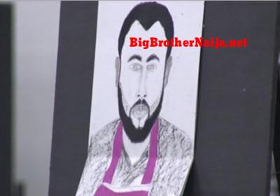 Nelson Portrait Painting Big Brother Naija 2019