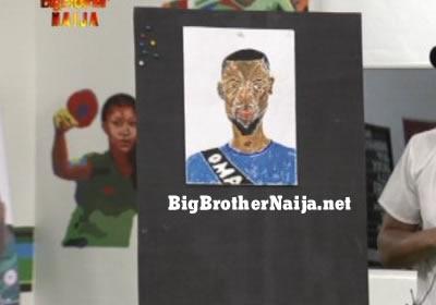 Omashola Portrait Painting Big Brother Naija 2019