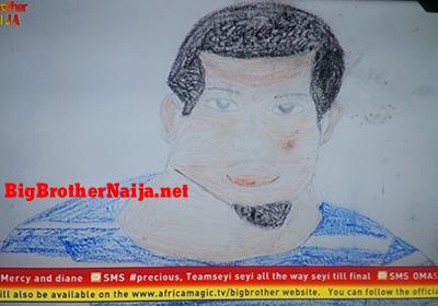 Seyi Portrait Painting Big Brother Naija 2019