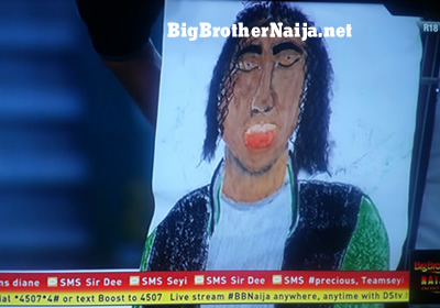Tacha Portrait Painting Big Brother Naija 2019
