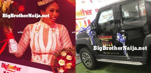 Mercy Eke Receives Big Brother Naija 2019 SUV Car Prize From Innoson Motors