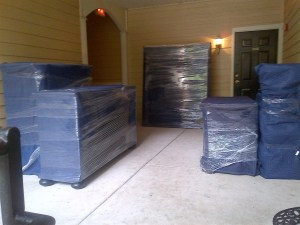 Properly wrapped furniture, fit to be moved