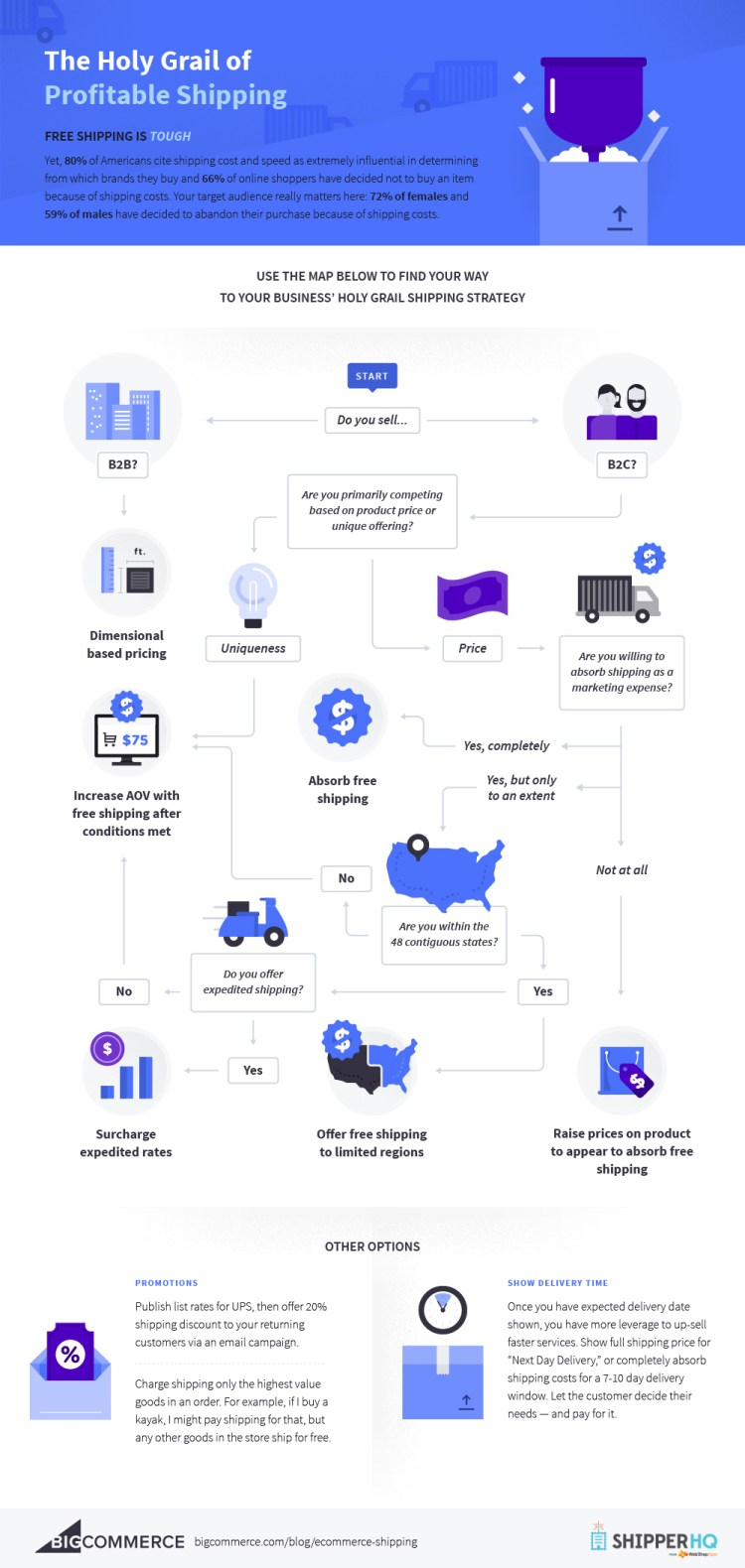 ecommerce shipping infographic
