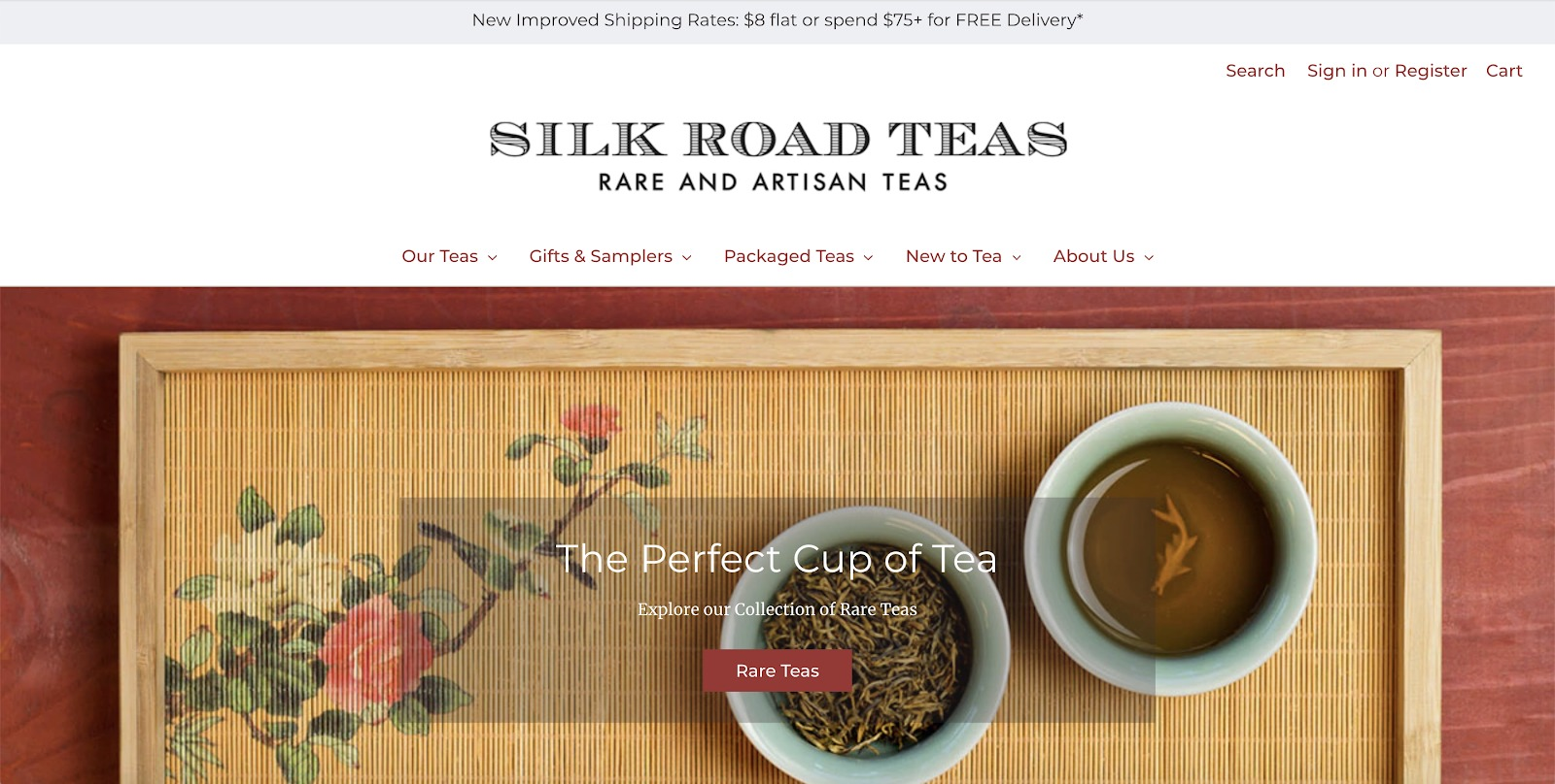 silk road teas store example