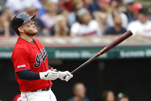 Indians Trim Twins 7 5 To Salvage Al Central Series Finale