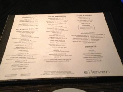 e11even menu