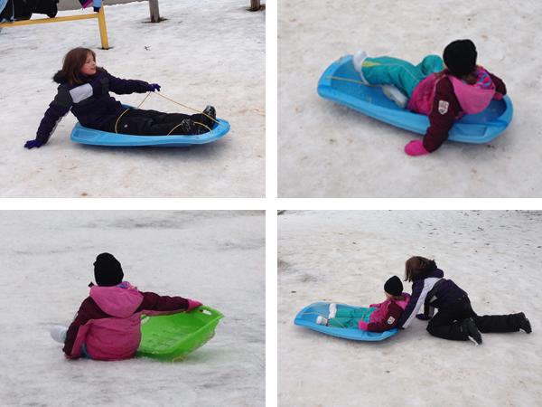 toboganning sledding