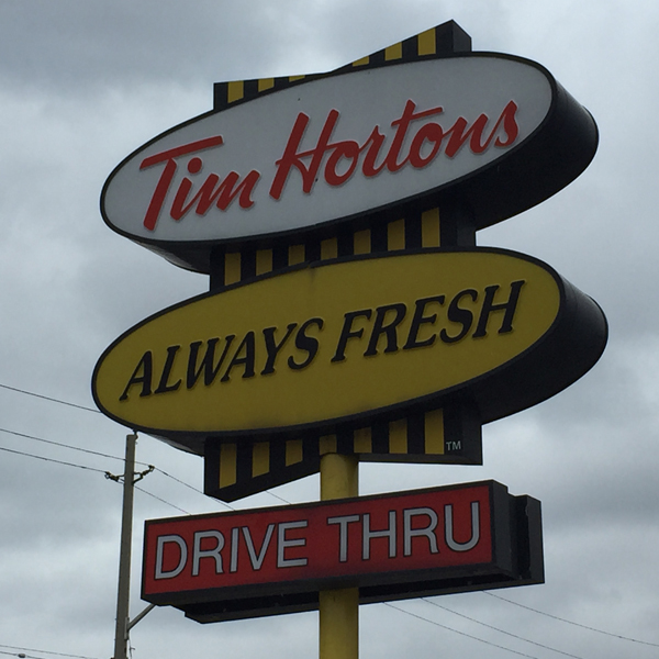 warm wishes tim hortons sign