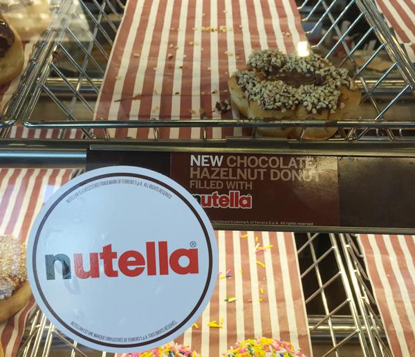 spread the love nutella donut
