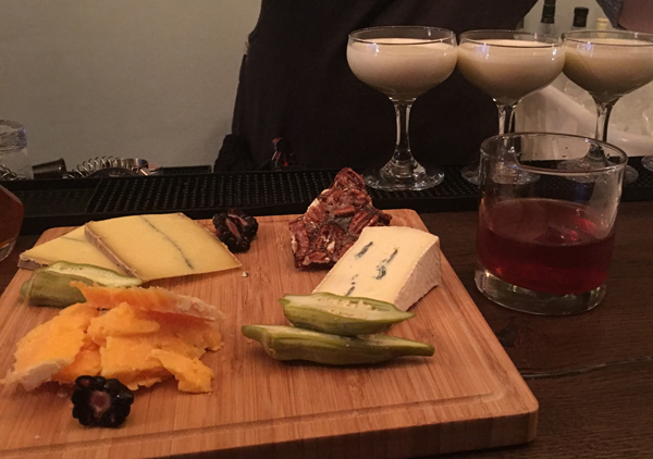 bar sazerac cheese and drinks