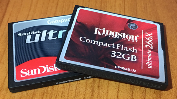 memory cards vacation