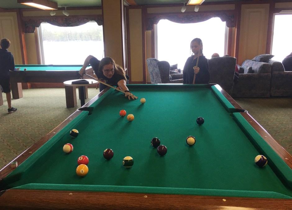 fern resort playing pool