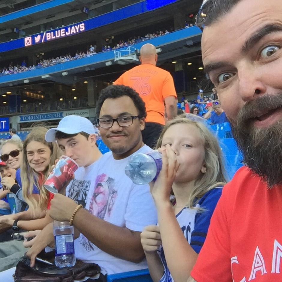 scott stratten family at blue jays game