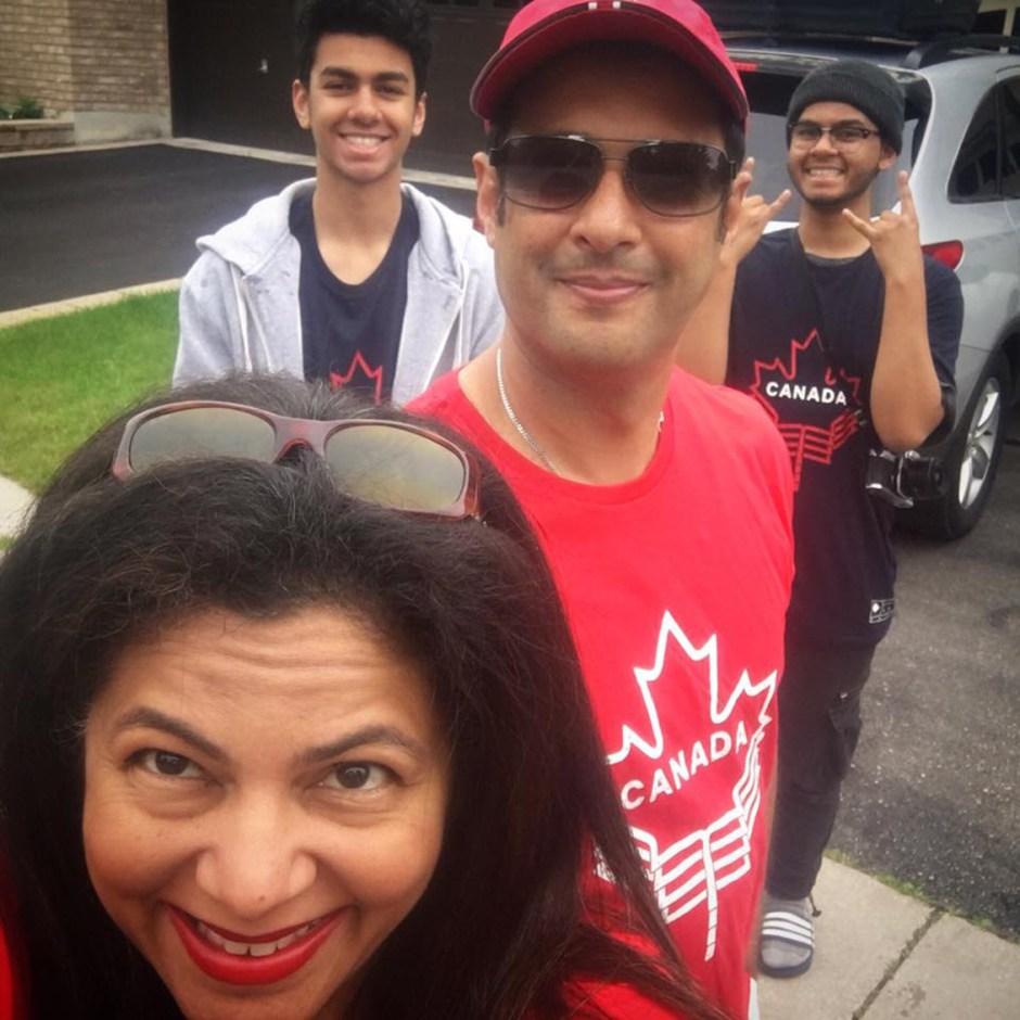 karen ahmed family outside