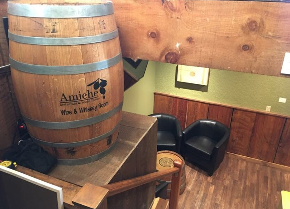 amiche wine and whiskey room