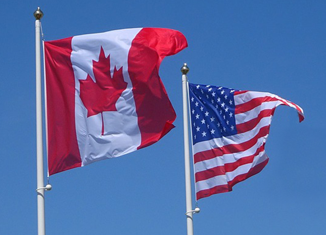 canada usa flag feature
