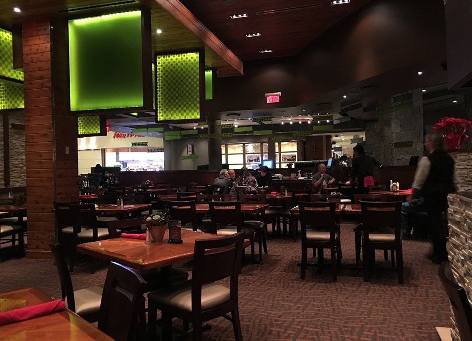 great food cedar seating