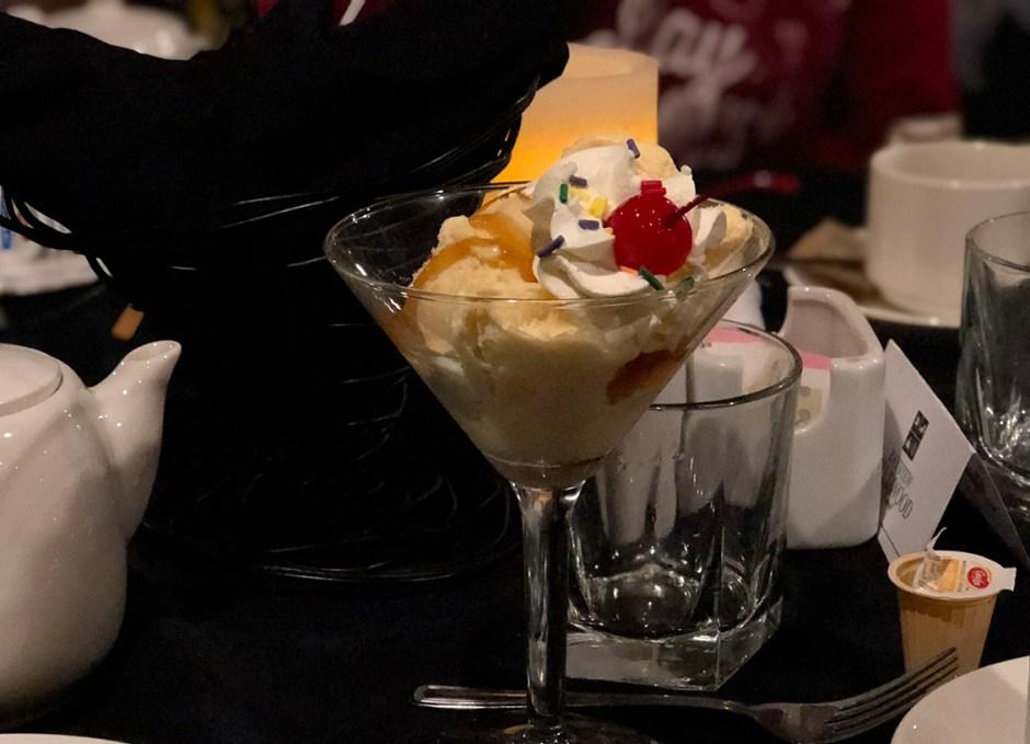 Dining Lounge butterscotch sundae