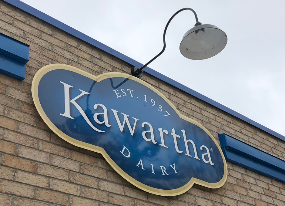 Lake Couchiching Kawartha Dairy Sign