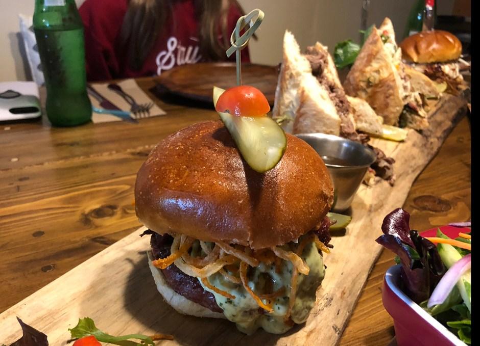 R Cottage bison burger