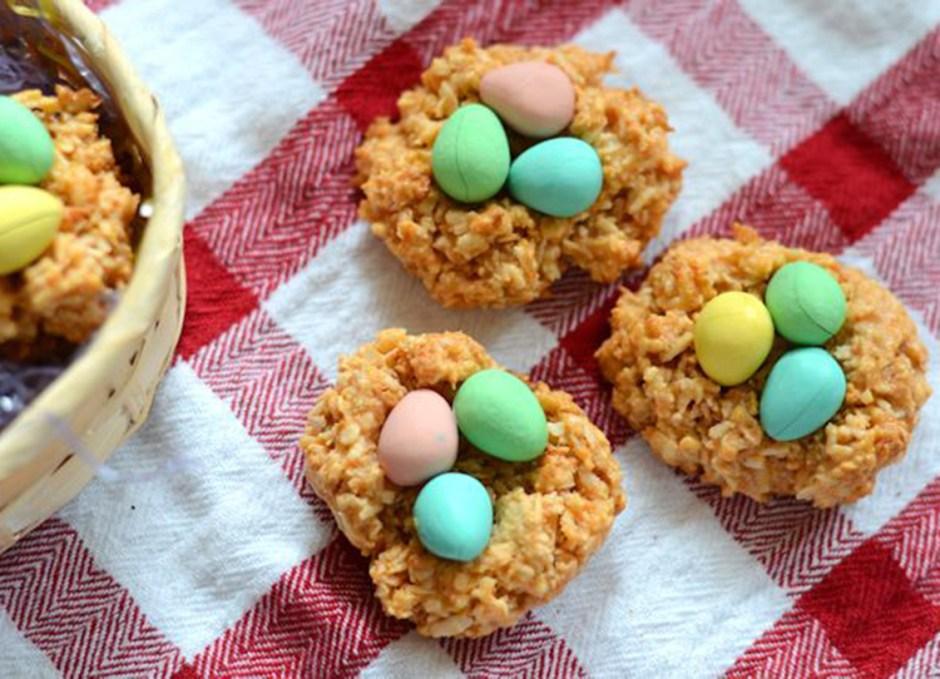 easter treats 12 Butterscotch Macaroon Nests