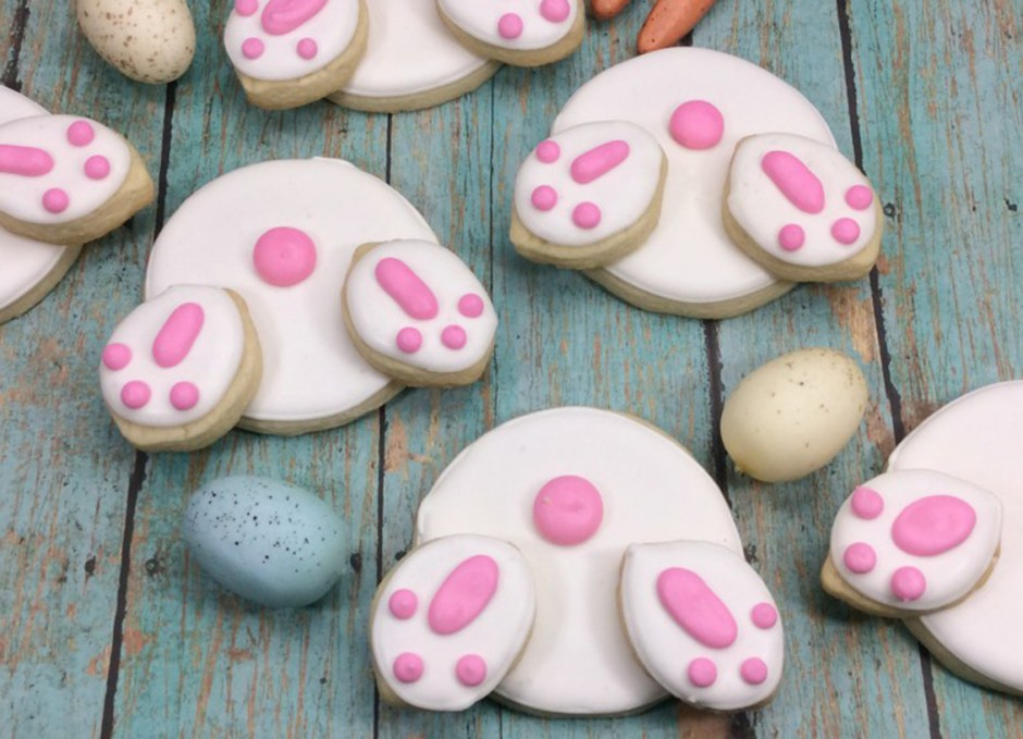 easter treats 13 Easter Bunny Butt Sugar Cookies
