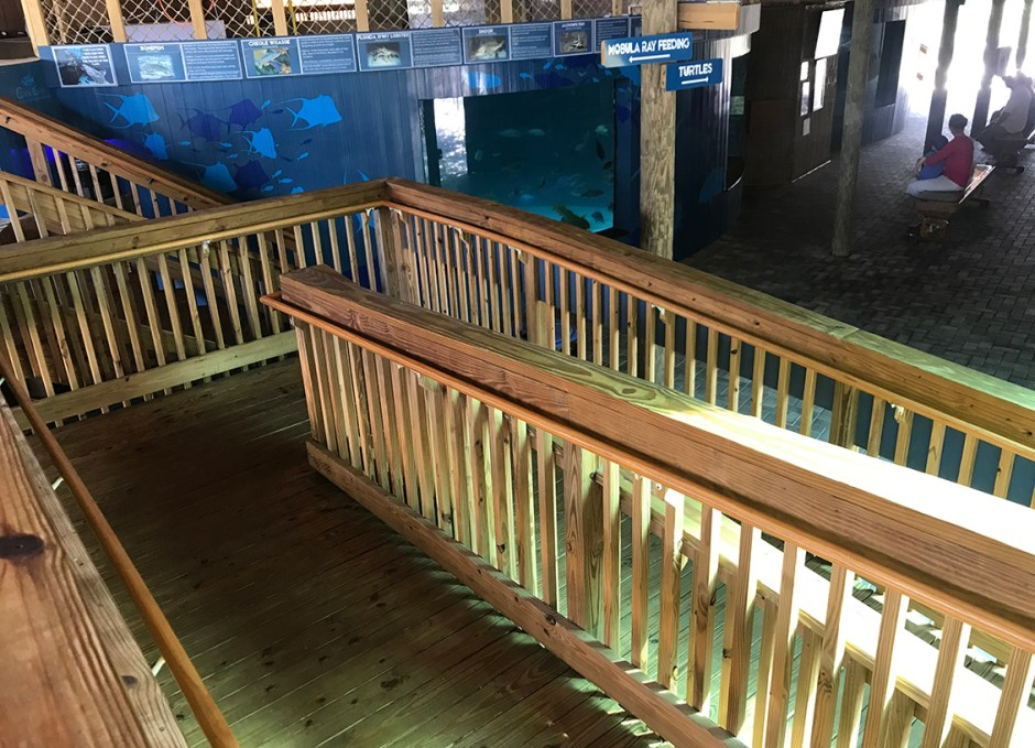 Aquarium Encounters accessible ramp