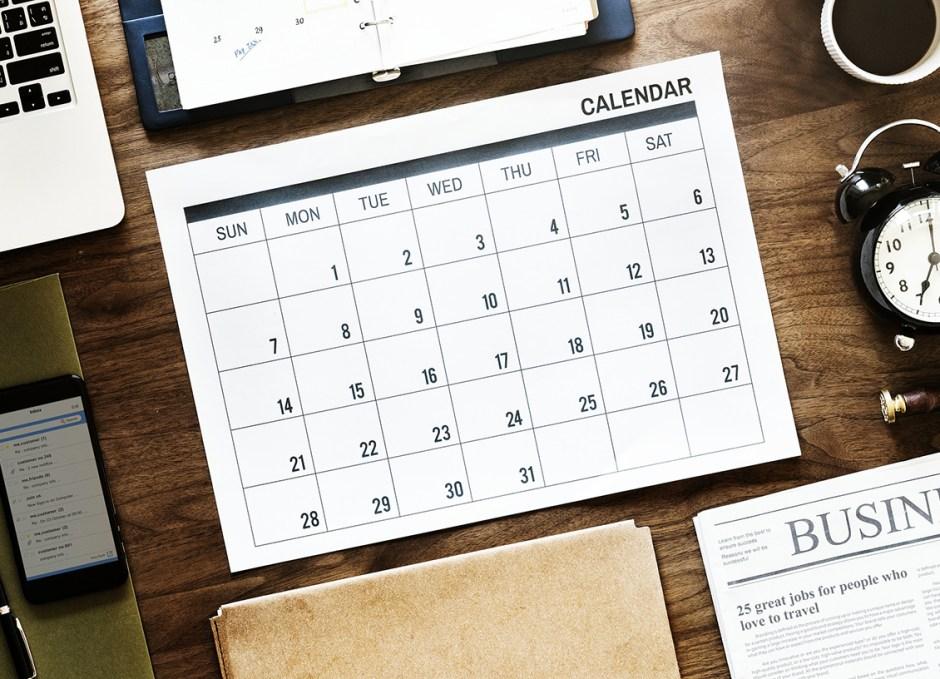 Renovation calendar