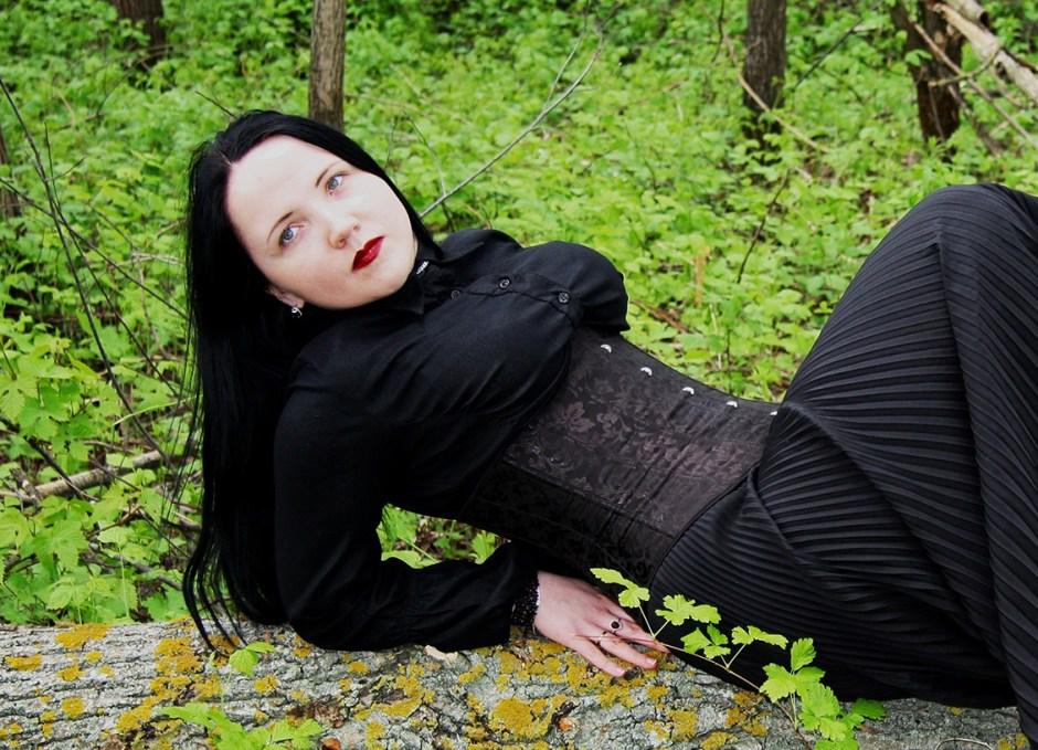 corset in grass
