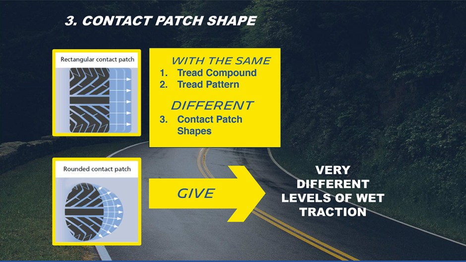 michelin truth about worn tires contact patch shape