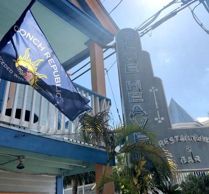 Florida Keys: Breakfast With The Roosters at Blue Heaven in Key West. #ad #FloridaKeys #bdkFloridaKeys