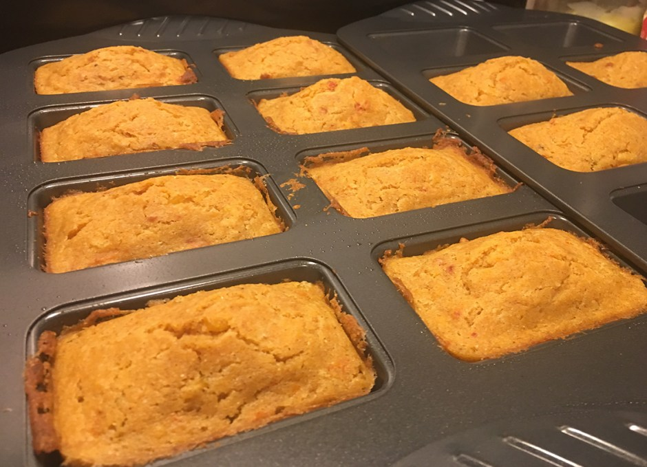Cornbread Mini Loaves freshly baked