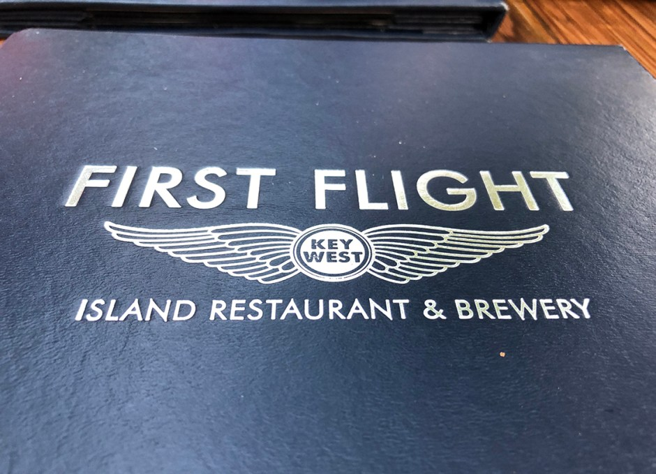 First Flight menu