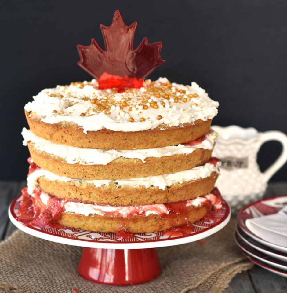 canada day desserts 2 True North Maple Cake