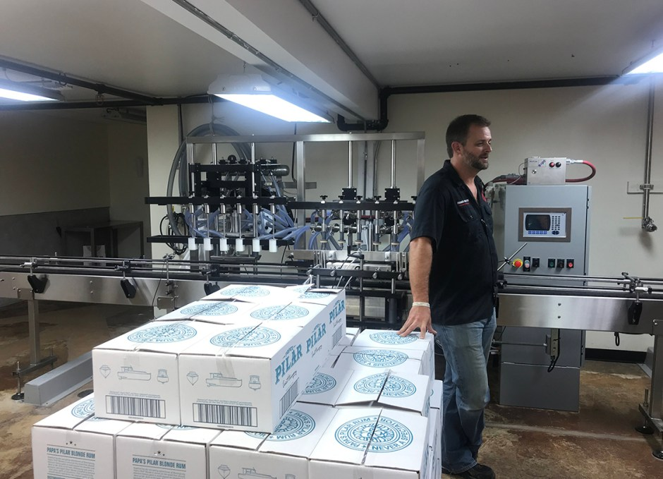 papas pilar bottling room