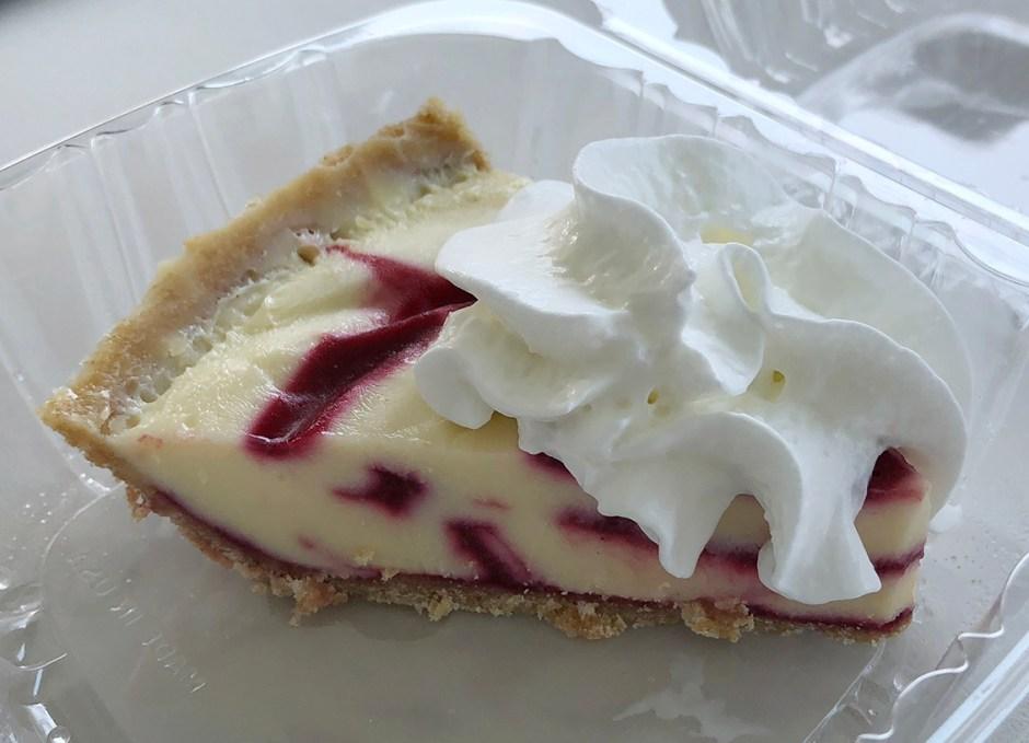 keys fisheries key lime pie with raspberry