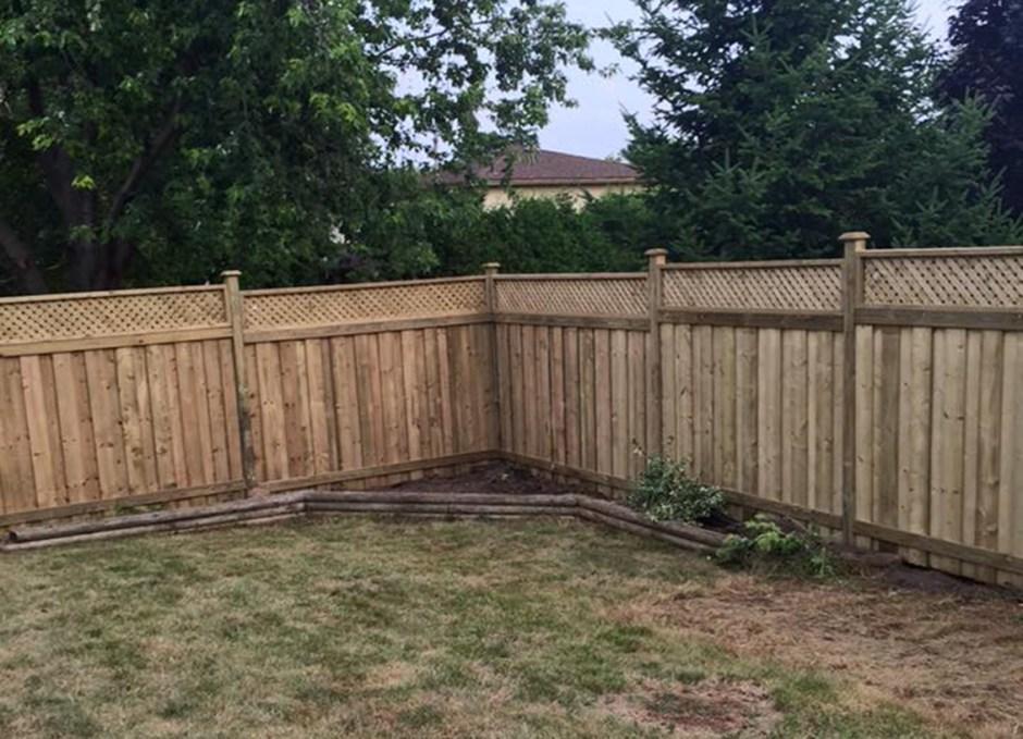 rainy day new fence