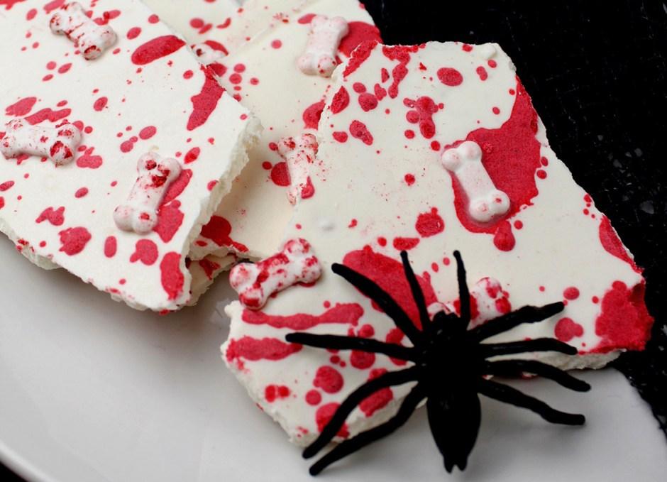 Bloody Delicious Bones Halloween Bark Recipe