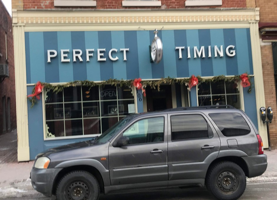 shop downtown orillia perfect timing
