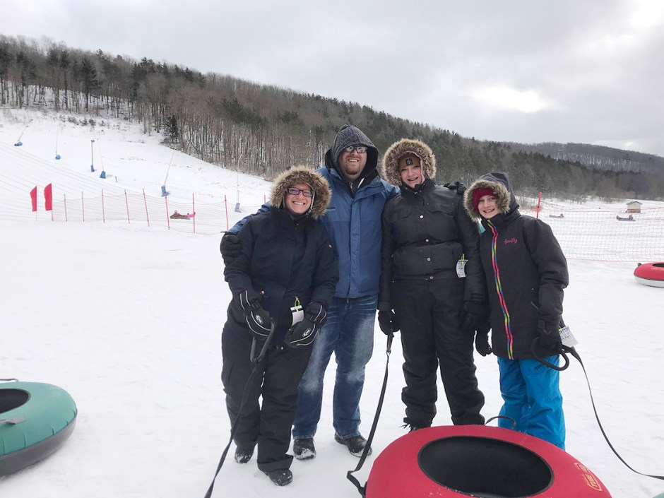 skipthedishes family day tubing