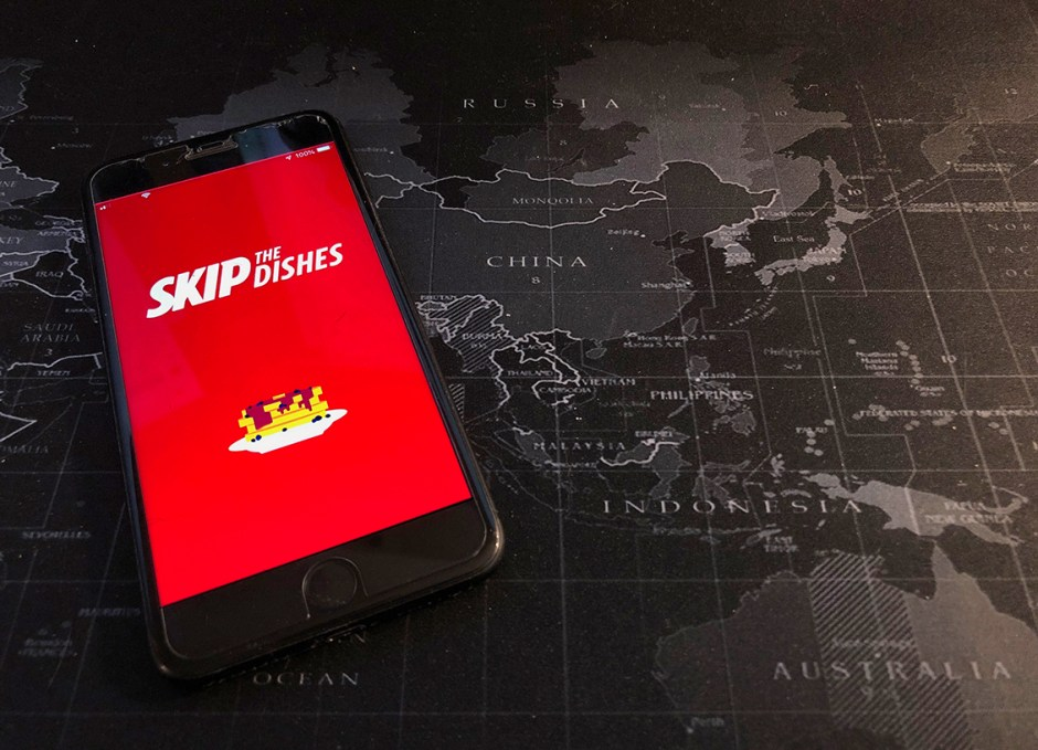 skipthedishes iphone on map