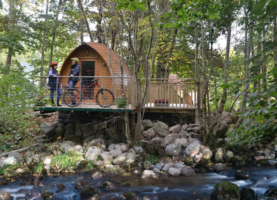 biking cycling glamping